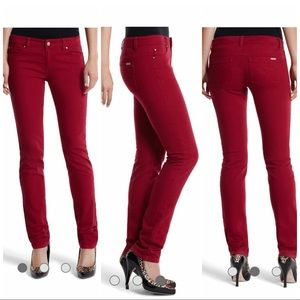 Whbm the mod blanc slim jean in cardinal red